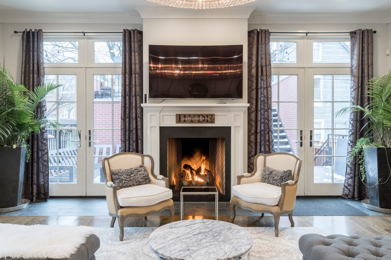 How do you install an electric fireplace in an existing fireplace